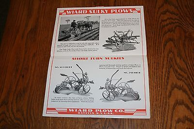 Massey Harris Wiard Plows and Implements Advertising Sales Brochure Poster