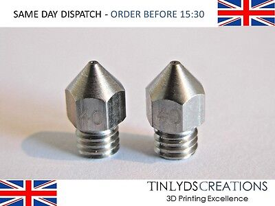 MK8 EXTRUDER NOZZLE STAINLESS STEEL - M6 THREAD - 0.4mm ,1.75MM -3D PRINTER PART