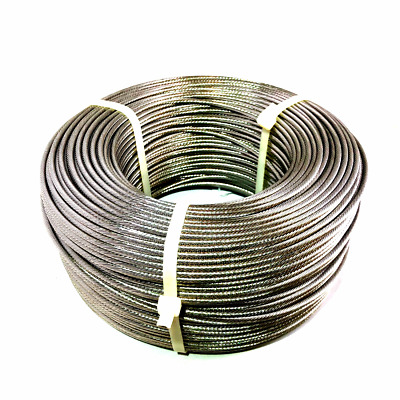 """LUX 1/8"""" 1x19 Strand Stainless Steel Cable Best for Cable Railing T316 SS - 500'"""