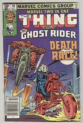 Marvel Two-In-One #80 October 1981 VG Ghost Rider