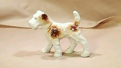 Vintage  Fox Terrier Dog Porcelain  Figurine figure