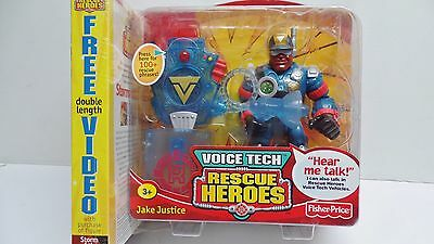 Vintage Fisher Price Voice Tech Rescue Heroes Jake Justice Mattel 2000 Moc