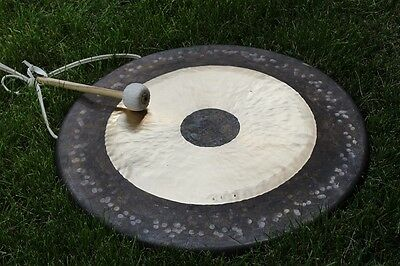"""34"""" Chau Gong & Mallet Tamtam gong Honorary presented by MK from Shandong China"""