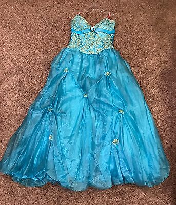 Size 10 Prom Party Homecoming Dance Pageant Formal Evening Ball Gown Dress