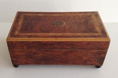 Antique Marquetry Inlaid Wood Musical Jewelry Box Music Box Ritz Swiss Vintage