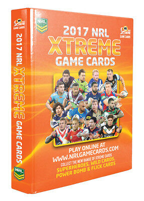 NRL 2017 Xtreme Game Cards Album
