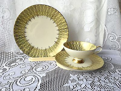 Beautiful Alboth Kaiser alka Kunst Bavaria Germany trio Tea Cup Saucer Plate 681