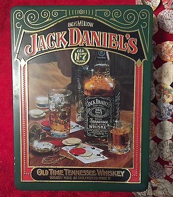 Vintage Jack Daniels Collectible Tin with Whiskey Bottle & Shot Glasses Old No.7