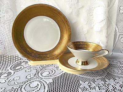 Beautiful Gold Coloured Winterling Germany trio Tea Cup Saucer & Plate 736