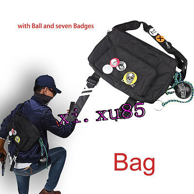 Watch Dogs 2 Bag Marcus Holloway Cosplay Costume Accessories Unisex Free Badge