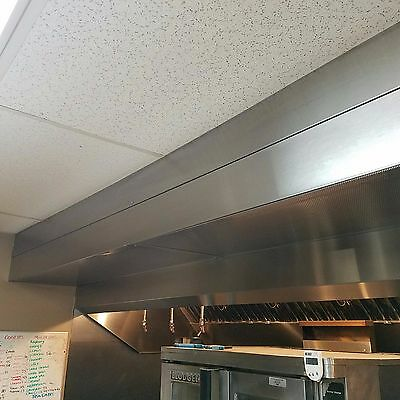 CaptiveAire 10ft. stainless steel commercial restaurant exhaust hood