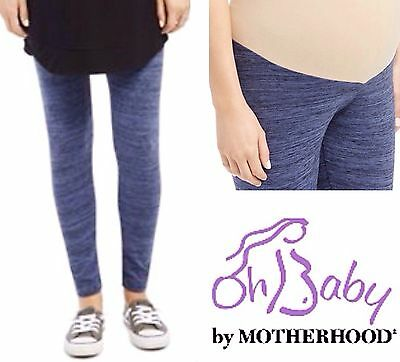 New MOTHERHOOD MATERNITY Space Dyed Stretch Leggings XL 16-18 SECRET FIT BELLY