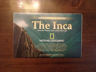 National Geographic Map The Inca Machu Picchu Salutes The Sun May 2002