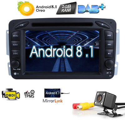 """7"""" HD Car DVD GPS DVR Android 7.1 For BENZ C/CLK/M/G W203 W209 W163 Viano"""