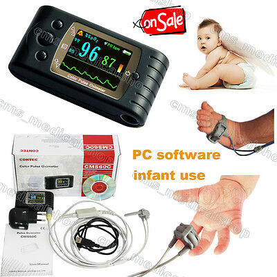 Contec CMS60D Handheld Pulse Oximeter for Infant pediatric.Baby use,pc software