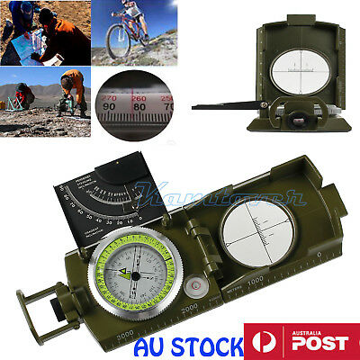 New Army Military Metal Compass Clinometer Pocket Kit Equipment Hiking Camping
