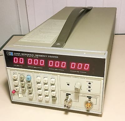 HP Agilent 5343A Microwave Frequency Counter ~ Very Clean Hewlett-Packard