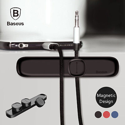 Baseus Magnetic Universal Cable Organizer Wire Cord Holder for iPhone Samsung