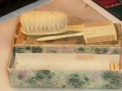 Art Nouveau Bakelite Baby Brush and Comb Set by Belcano