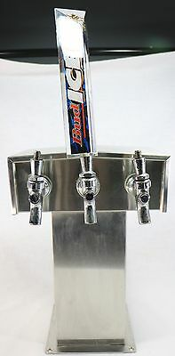 Perlick Century T-Style 3 Tap Faucet Draft Beer Tower System - Stainless Steel