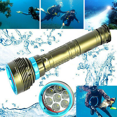 20000LM 7x XM-L2 LED Scuba Diving Flashlight 3X18650/26650 Torch Underwater 200m