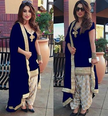 Indian Salwar Kameez Bollywood Fancy wear Anarkali Suit Patiala Pakistani Dress
