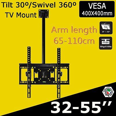 LCD LED PLASMA CEILING ROOF TV BRACKET TELEVISION WALL MOUNT - Fits from 32-60""