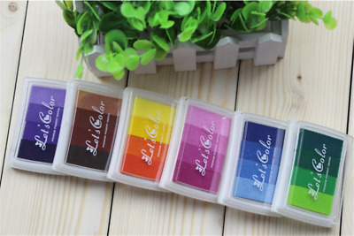 Water-Based Color Classic Pigment Crafts Bright Rubber Stamp Rainbow Ink Pads