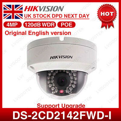 UK Hikvision DS-2CD2155F-IS PoE Mini Dome 5MP IP Camera HD Indoor Audio SD 2.8mm
