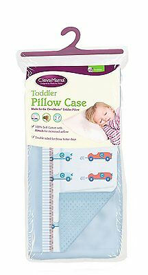 Clevamama Toddler Pillow Case Cover Replacement Blue Approx 52 x 33 cm