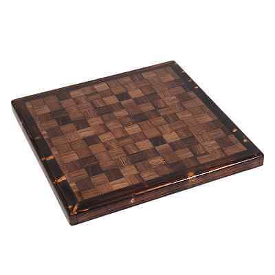 New Restaurant Checkered Table Top Wood Edge Walnut Furniture Square 36X36