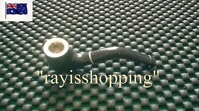 Black Pocket Pipe Stem Smoking Tools Tobacco Cigarette Holder 2 Piece Never Rust