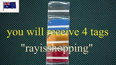4 x Aluminium Metal Travel Luggage Baggage Suitcase Address Tags Label Labels
