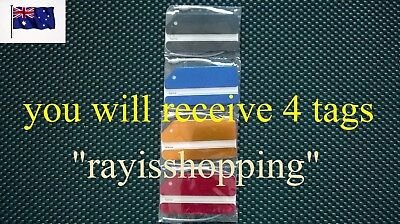 4 x Aluminium Metal Travel Luggage Name Kids Suitcase Address Tags School Labels