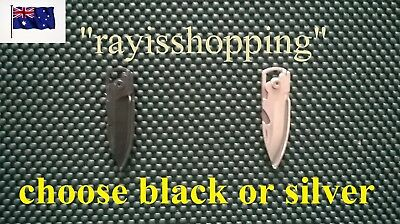 Mini Stainless Steel Folding Bottle Opener Knife Cool Small Black or Silver