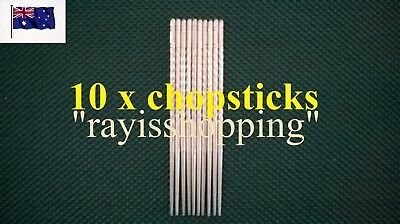 10 x Stainless Steel Chopsticks 5 pairs Korean Hollow Heavy Duty Stylish Classy