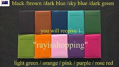 Passport Holder, Choose Colour Credit Card Unisex Cover Wallet Organizer Protect