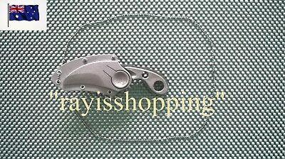 Matte Black Smith & Wesson Serrated Curved Blade Knife & Necklace Neck Fishing
