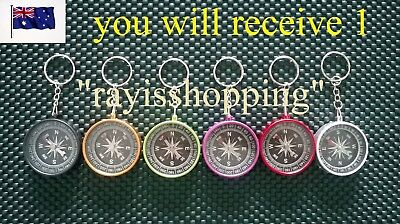 1 x Keyring Compass Orientation Map Direction Different Colours Camping Hiking