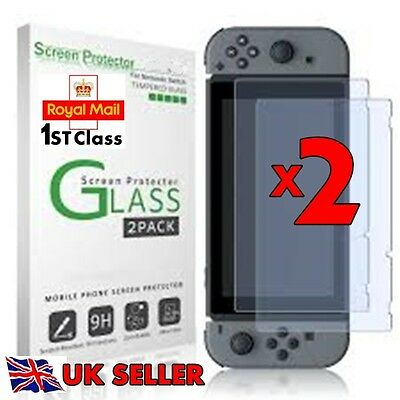Tempered Glass Screen Film Guard Protector For Nintendo Switch  2 Pcs Ultra HD