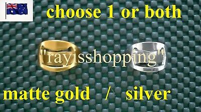 Beer Bottle Opener Ring Lid Top Cool Hipster Remover Matte Gold Silver Bar Pub