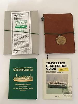 Traveler's Notebook 5th Anniversary Star Edition Leather Cover & Refill & Bonus