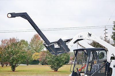 "Bobcat Skid Steer Attachment - 60"" Curved Tree Boom Lifting Pole - Ship $199"