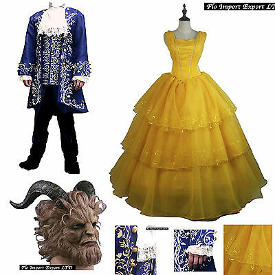 Bella e La Bestia Vestiti Carnevale Donna Uomo Beauty and the Beast Mask BEL005