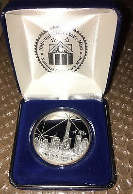 2004 Freedom Tower 1 Oz Ounce  Silver Dollar Coin With Coa Proof 71Mg