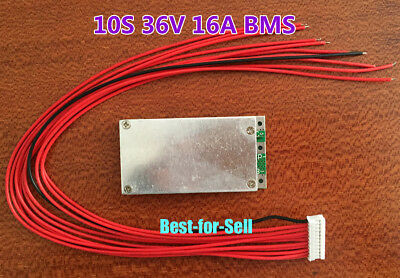 10S 37V 42V 16A Li-ion Lithium Cells 18650 Charger Battery PCB Protection Board