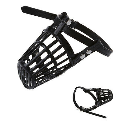 Aadjustable Satety Dog Pet Puppy Muzzle Basket Cage 7 SIZE Y7L7