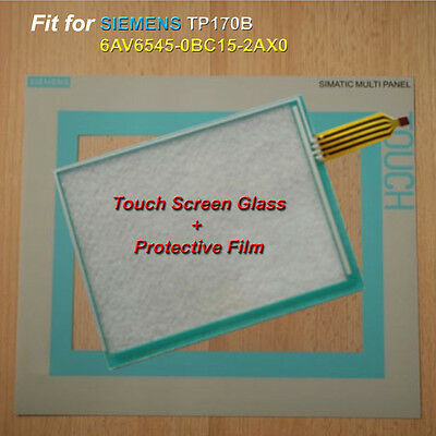 Touch Screen Glass + Protective Film for SIEMENS TP170B 6AV6545-0BC15-2AX0
