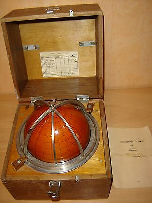 USSR CELESTIAL STAR GLOBE vintage year 1972 marine military nautical navigation