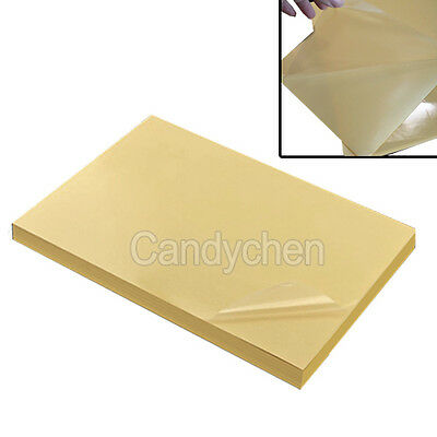 10Pcs A4 Clear Transparent Film Self Adhesive Sticker Paper For Laser Printer